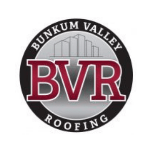 Bunkum Valley Roofing logo with black outline