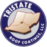 Tristate roof coatings logo white outline